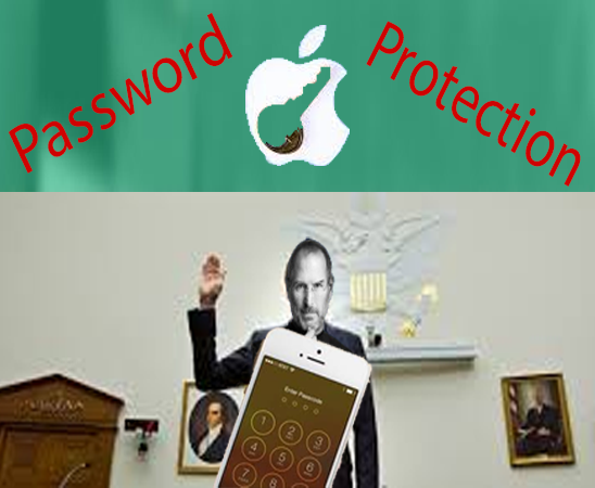 iPhone, Android Mobile device or Mobile application Password protection